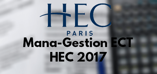 Rapport Management Gestion HEC 2017