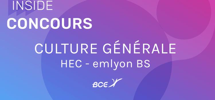 Culture générale HEC emlyon 2020 – Sujet