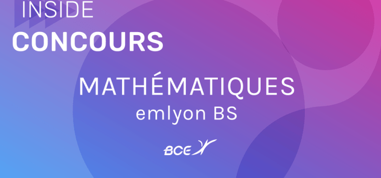 Maths emlyon 2020 ECS – Sujet