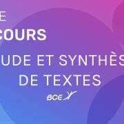 Synthèse de textes ESCP 2020 – Sujet