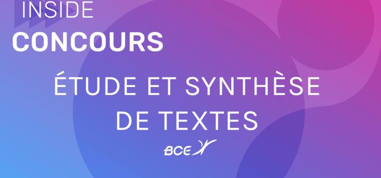 Synthèse ESCP 2019 – Sujet