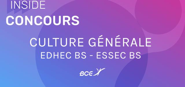 Culture générale EDHEC-ESSEC 2019 – Sujet