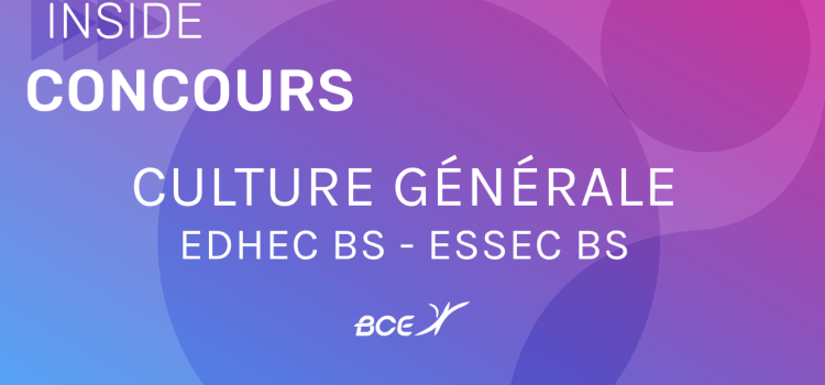 Culture générale EDHEC/ESSEC 2020 – Analyse du sujet