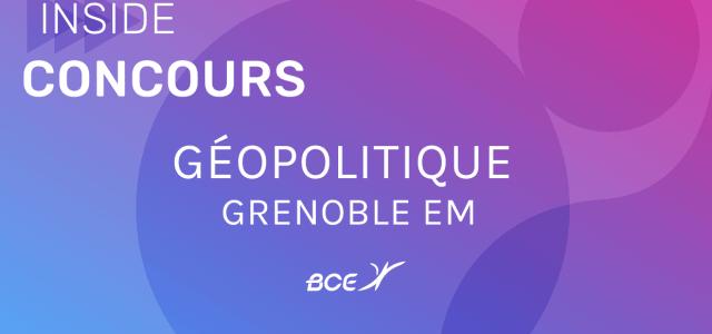 Géopo Grenoble EM 2019 – Sujet