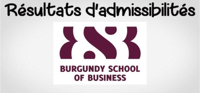 Résultats d'admissibilités BSB 2019