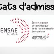 Résultats d'admissibilités ENSAE 2019