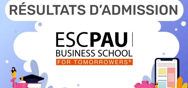 Résultats d'admission ESC Pau BS 2019