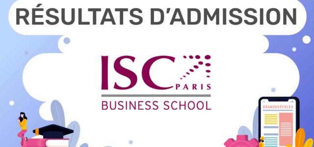 Résultats d'admission ISC Paris 2019