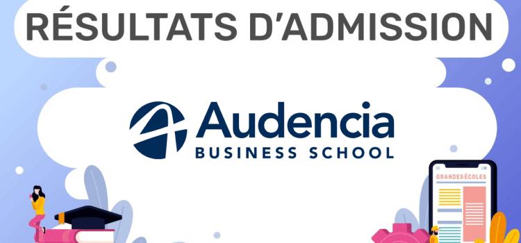 Résultats d'admission Audencia 2020