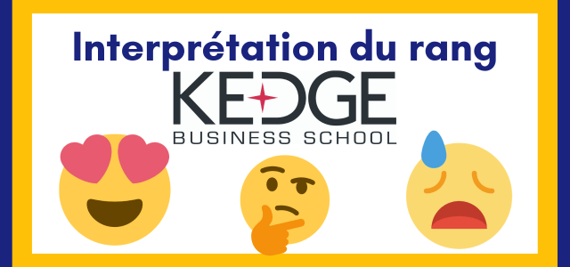 Interpréter son rang KEDGE 2019