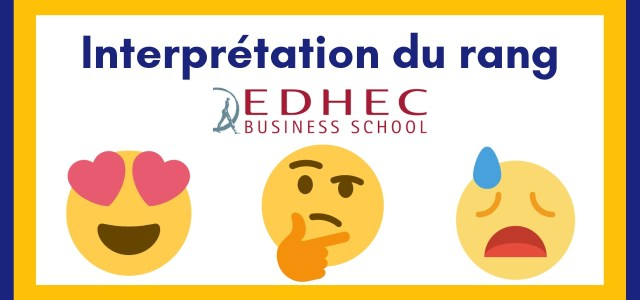Interpréter son rang EDHEC 2020
