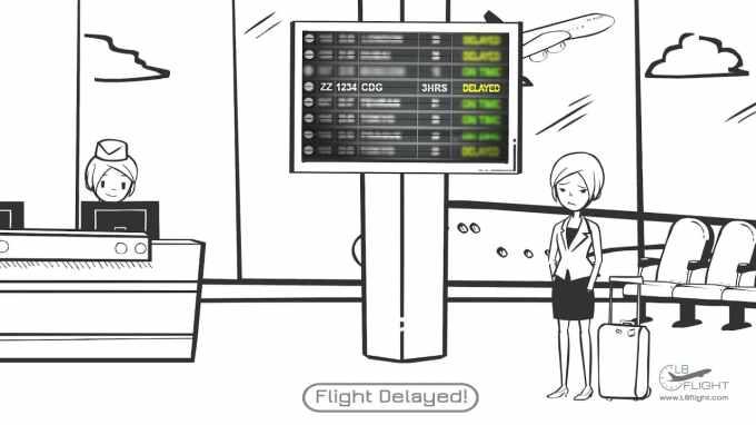 Traduisez : C'est une hôtesse de l'air qui m'a prévenue que la déviation du vol nous retarderait de deux heures au moins. Et maman qui se fait un sang d'encre à l'aéroport !