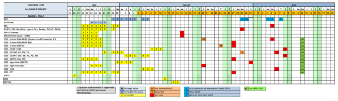 calendrier concours