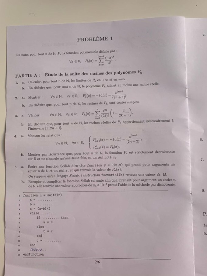 ECS EMLYON maths