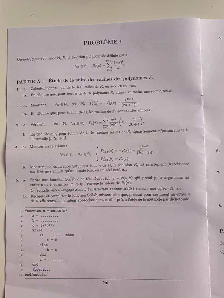 ECS EMLYON maths