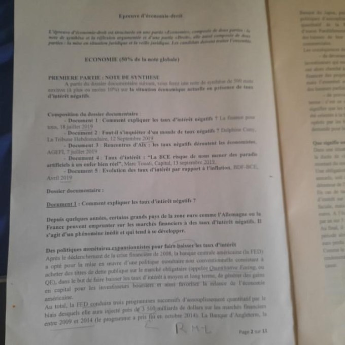 Eco droit ESSEC 1