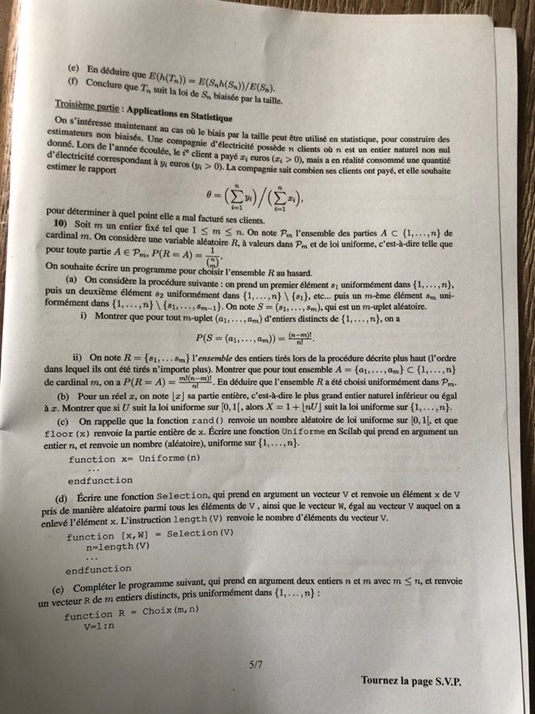 Maths ESSEC ECE 2020