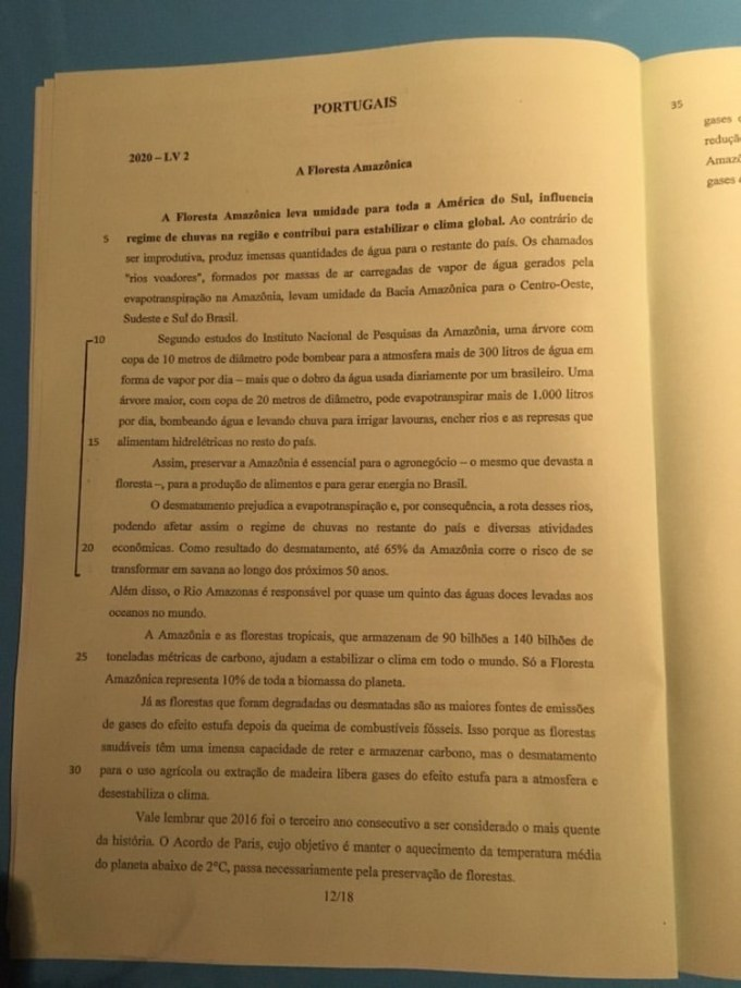 sujet lv2 IENA 2020 12