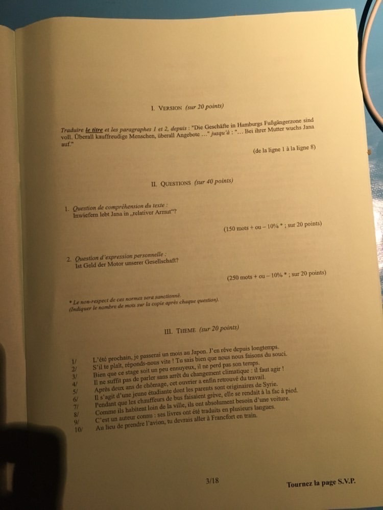 sujet lv2 IENA 2020 3