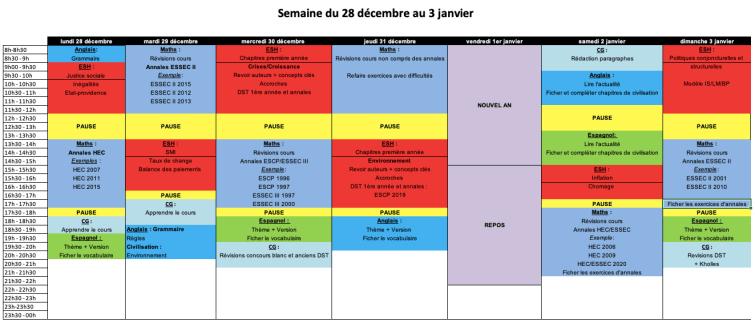 Planning Estelle Noël