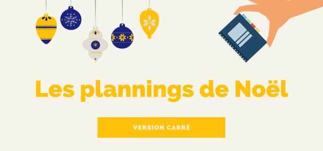 Le planning des vacances de Noël en prépa – Version carré