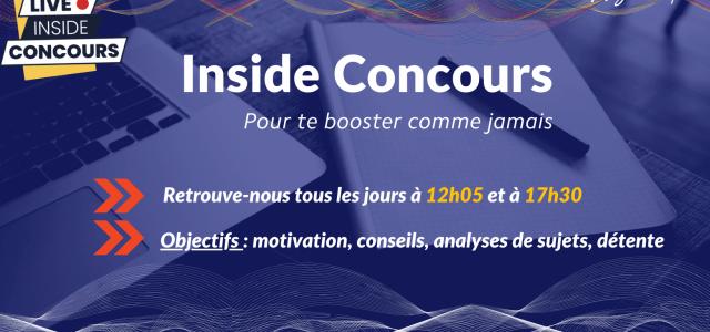 Le Live Inside Concours Ecricome 2021 débute ce lundi