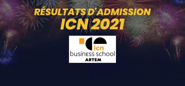 Résultats d'admission ICN 2021