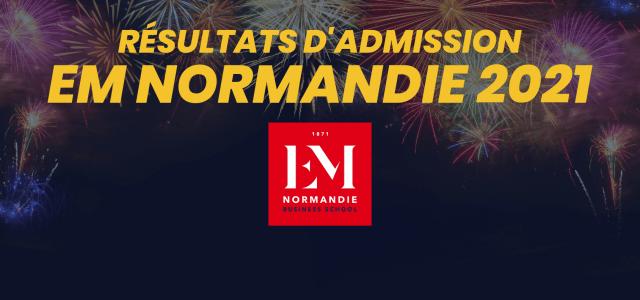 Résultats d'admission EM Normandie 2021