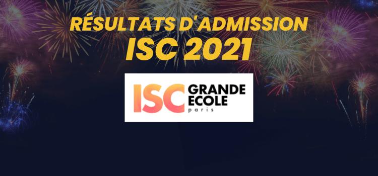 Résultats d'admission ISC Paris 2021