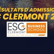 Résultats d'admission ESC Clermont 2021