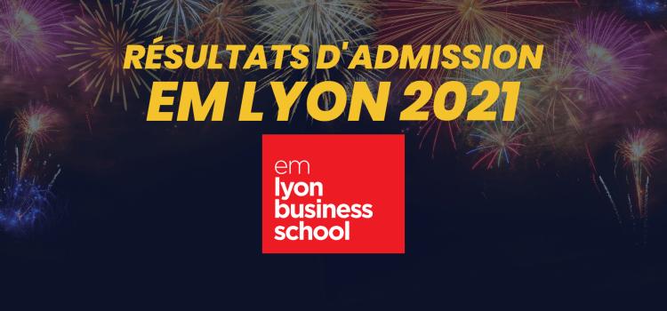 Résultats d'admission emlyon 2021