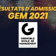 Résultats d'admission GEM 2021