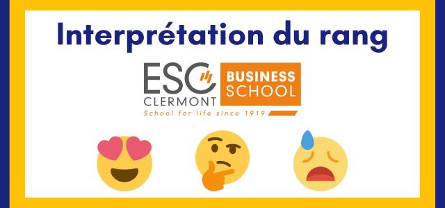 Interpréter son rang ESC Clermont BS 2021