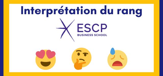 Interpréter son rang ESCP 2021