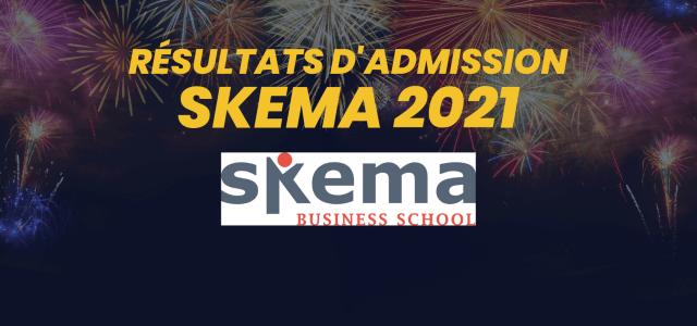 Résultats d'admission SKEMA 2021