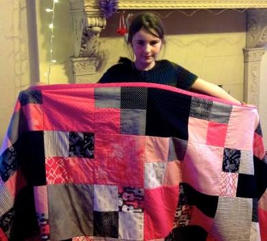 Abby made this quilt