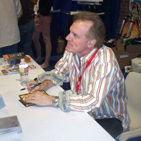 Stephen Collins signing DVDs for Tales of the Gold Monkey