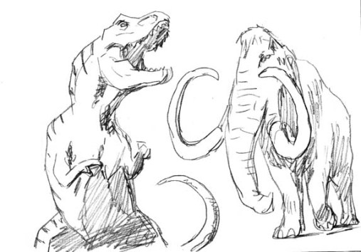 t-rex mamooth