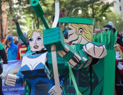 2012 Parade Cardboard Black Canary Green Arrow