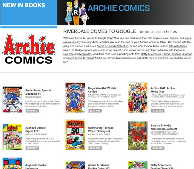 ArchieComicsGooglePlay