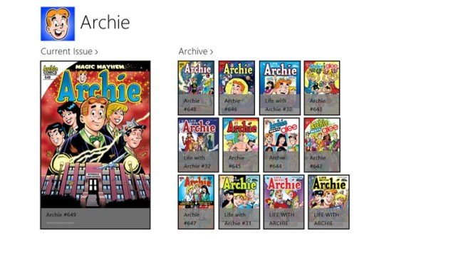 ArchieComics_WinScreenShot