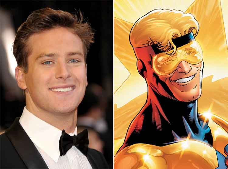 Image result for Armie Hammer is Booster Gold