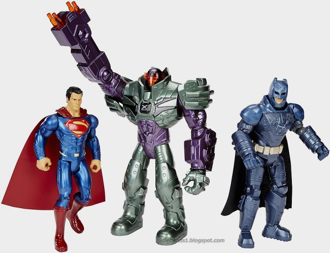Mattel Batman v Superman Dawn of Justice Batman Superman Lex Luthor Figure 3-Pack