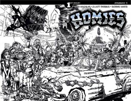 Homies-Comic-Issue1-CoverD-HuertaBWIncentive