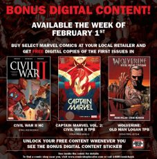 comics, digital, code, redemption, Marvel, House of Ideas, Civil War, bonus,