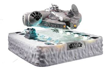 Star Wars Millennium Falcon Floating Statue Previews Beast Kingdom Egg Attack