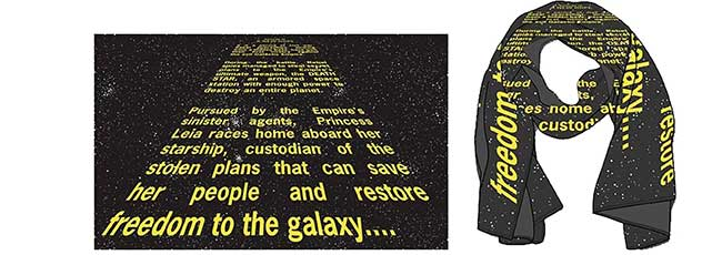 Star Wars Opening Crawl Scarves