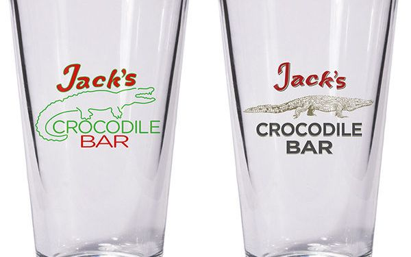 Jacks Crocodile Bar America Gods Shot Glasses Dark Horse Comics