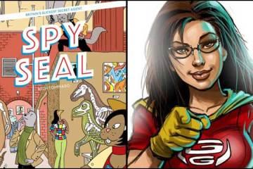 Wayne Hall, Wayne's Comics, Spy Seal, Image Comics, Rich Tomasso, Sam Johnson, Geek-Girl, Kickstarter, spy, Cabra Cini, Ruby Kaye, glasses, Summer,