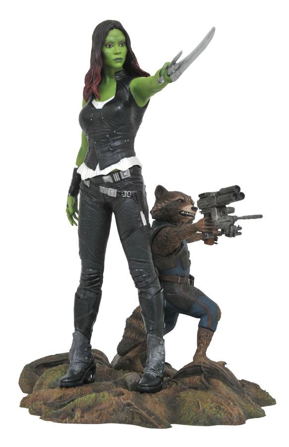 Gamora Rocket Raccoon Statue